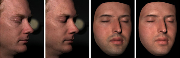 Analysis of Human Faces using a Measurement-Based Skin Reflectance Model