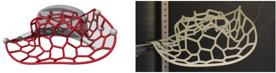 Design and Fabrication of Flexible Rod Meshes